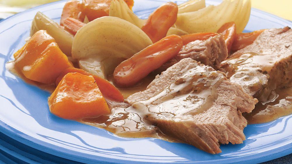 Slow-Cooker Maple-Sage Pork Roast
