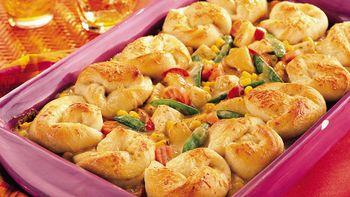 Garlic Alfredo Chicken Pot Pie