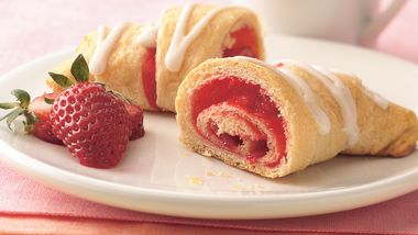 Strawberry Breakfast Crescents