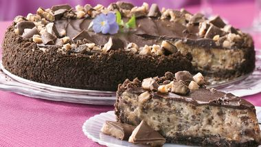 Chocolate Chip-Toffee Cheesecake