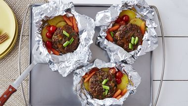 Burger and Veggie Foil Packs