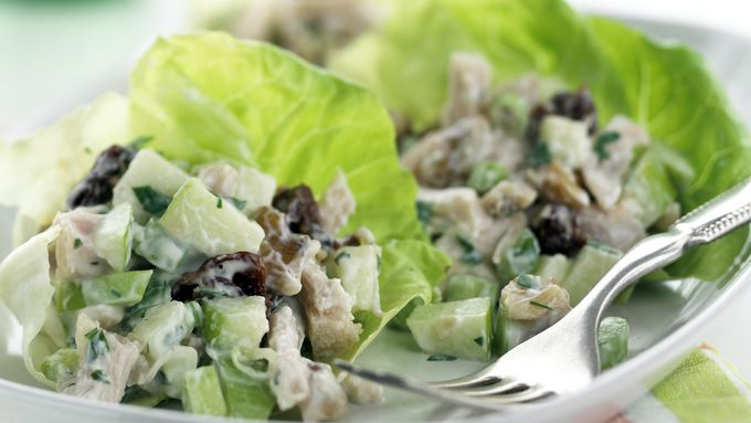Skinny Turkey Apple Salad Wraps