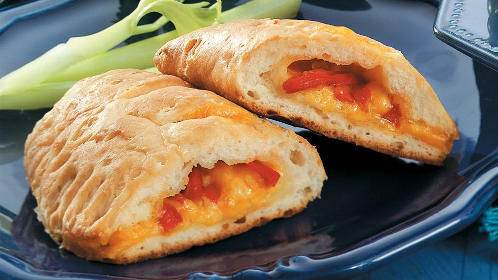 Cheese and Roasted Pepper Calzones
