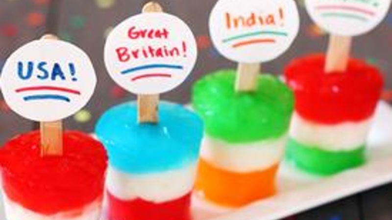 Flag Freezer Pops