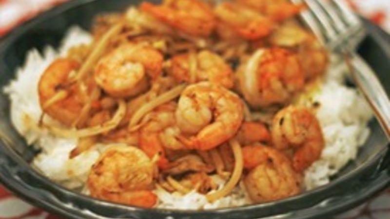 Simple Shrimp Stir-Fry for 1