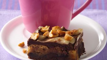 Peanut Butter-Fudge Bars