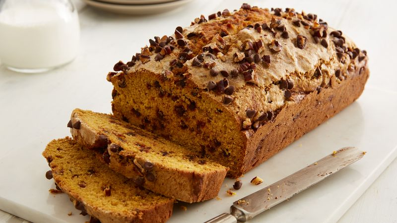 Chocolate Chip Pumpkin Bread recipe from Betty Crocker