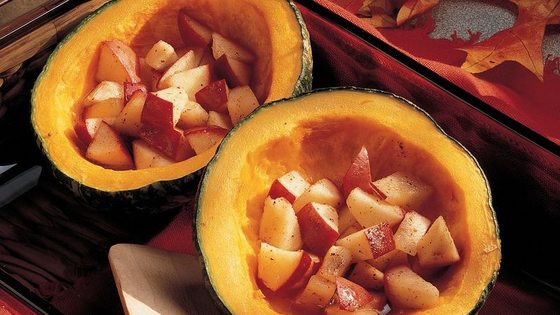 Buttercup Squash with Apples