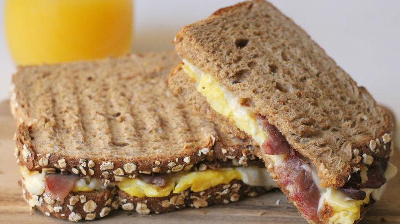 Egg and Bacon Panini
