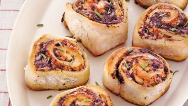 Easy Asiago Olive Rolls