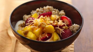 Tropical Fruit and Ginger Oatmeal