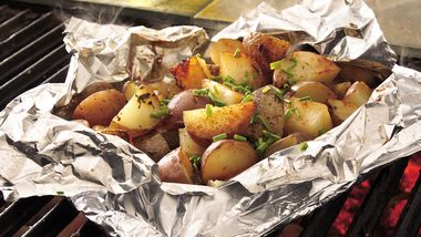 Grilled Sage-Potato Foil Pack
