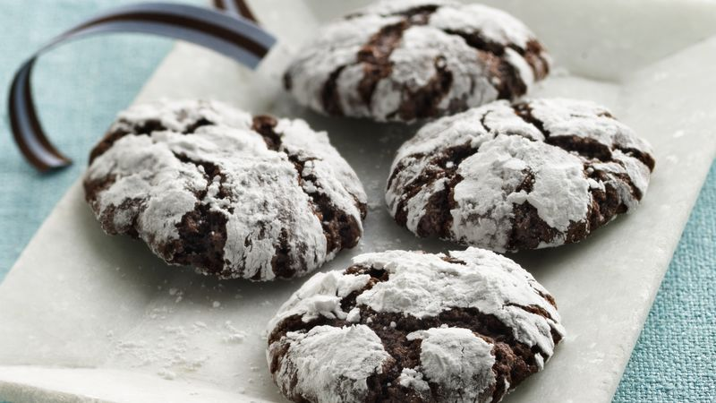Spiced Almond-Chocolate Crinkles