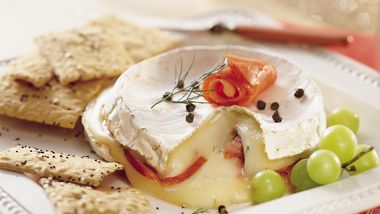 Easy Brie Smoked Lox Torte