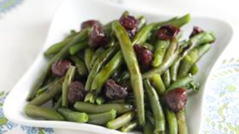 Green Beans with Balsamic Drizzle
