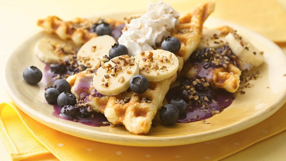 Quick and Fruity Crescent Waffles