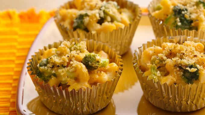 Mac and Broccoli Cheese Cups