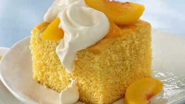 Peaches and Cream Cake