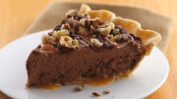 Hazelnut-French Silk Turtle Pie