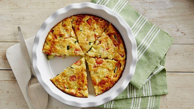 Impossibly Easy Zucchini Pie recipe from Betty Crocker