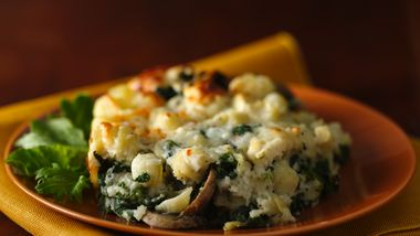 Three-Cheese Spinach and Pasta Bake
