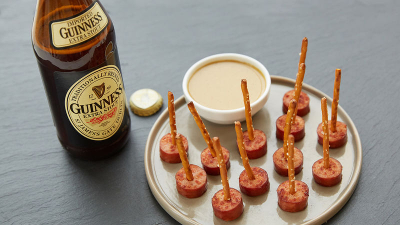 Smoked Turkey Appetizer with Guinness™-Mustard Dipping Sauce