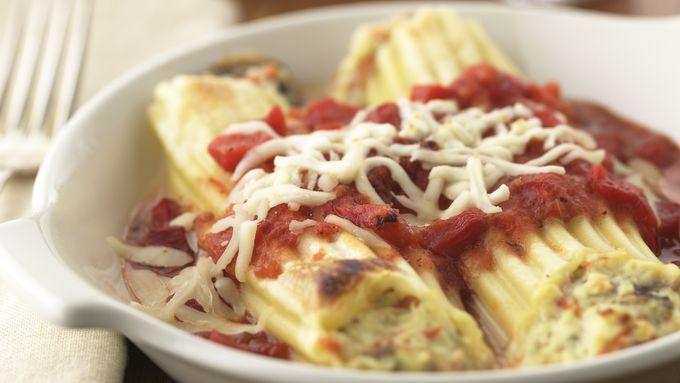 Skinny Three-Cheese Manicotti