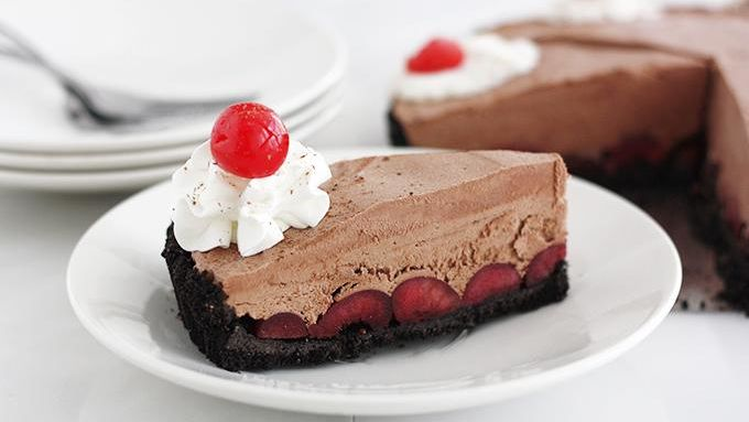 Black Forest Cherry Frozen Tart