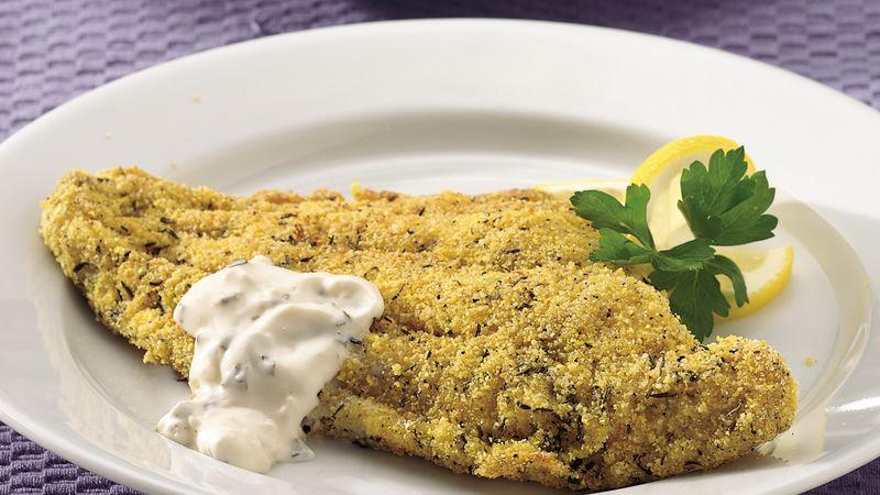 Crispy Broiled Catfish Fillets