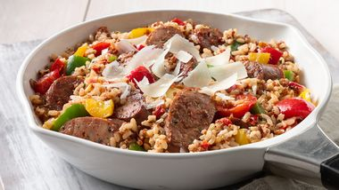 Sausage, Pepper and Grain Skillet
