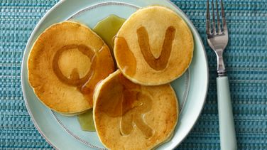 Alphabet Sour Cream Pancakes