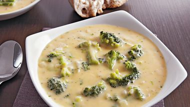 Slow-Cooker Three Cheese Broccoli Soup