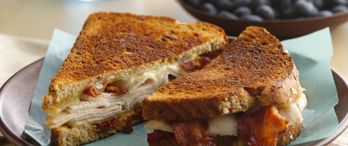 Grilled Turkey, Bacon and Swiss Sandwich recipe from Betty ...