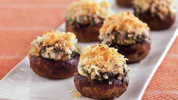 Cheese and Spinach-Stuffed Mushrooms