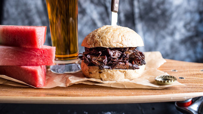 5-ingredient Slow-Cooker BBQ Pulled Beef