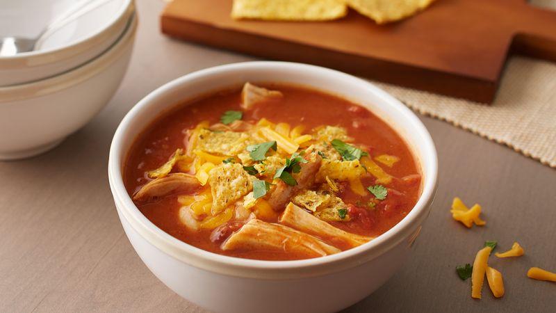 Quick Chicken Tortilla Soup