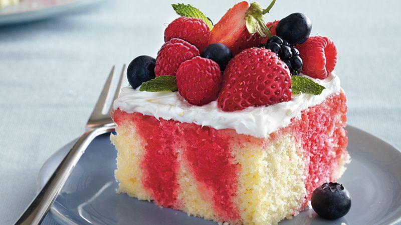 Spring Berry Poke Cake