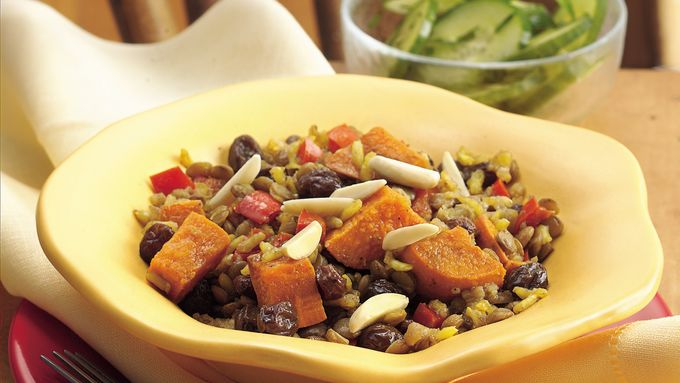 Curry Lentil and Brown Rice Casserole
