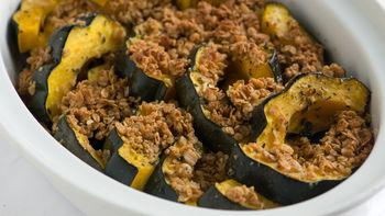 Granola Crusted Acorn Squash
