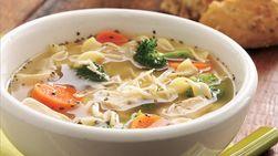 Sopa Italiana de Pollo y Tallarines