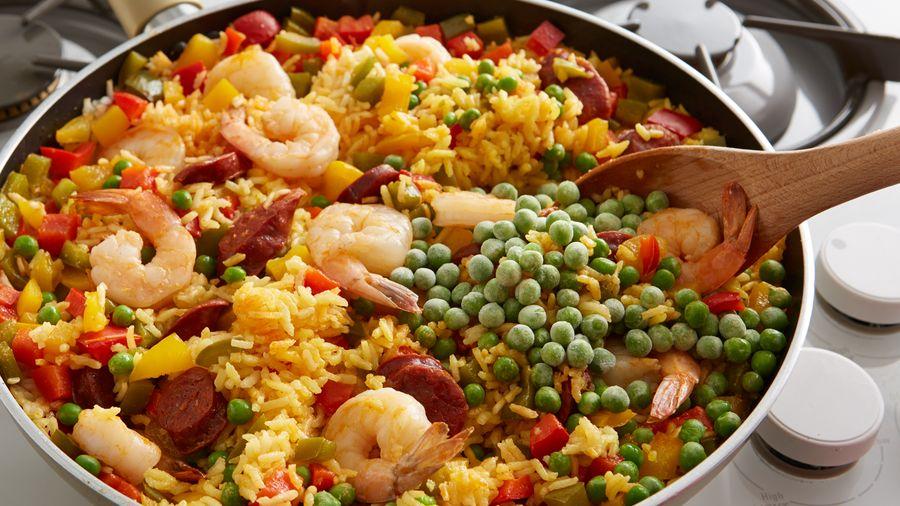 receta mariscos con arroz