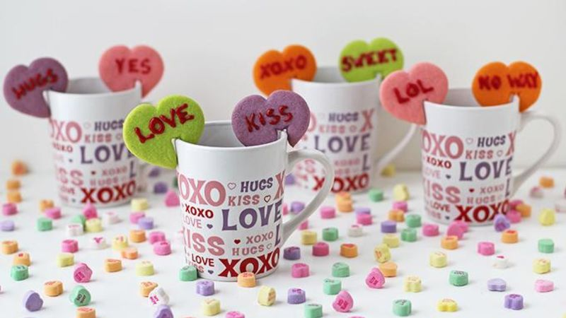 Conversation Heart Mug Cookies