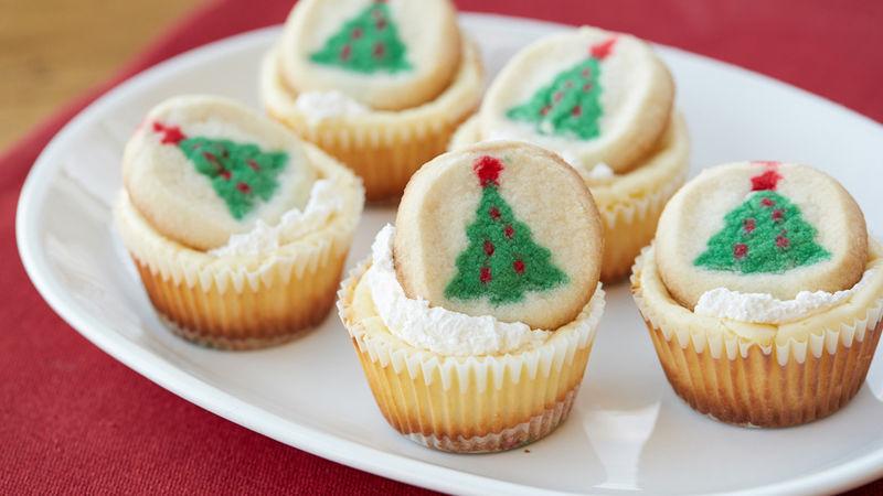 Mini Christmas Cookie Cheesecakes