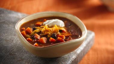 Slow-Cooker Black Bean Sweet Potato Chili