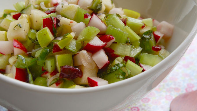 Apple, Radish and Celery Salsa