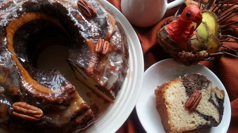 Marble Cake with Nougat Liquor