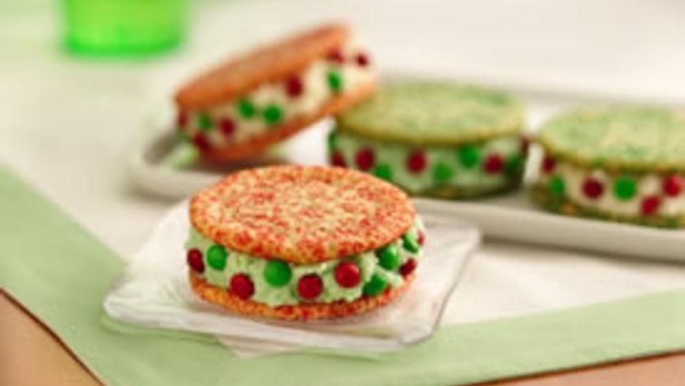 Holiday Ice Cream Sandwiches
