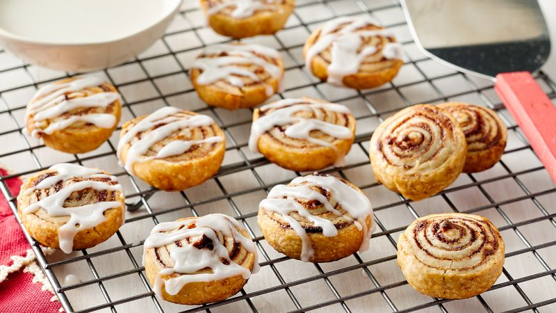 Mini Cinnamon Roll Cookies