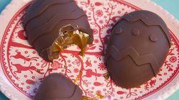 Cajeta-Filled Chocolate Eggs