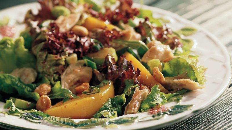 Peach and Peanut Chicken Salad